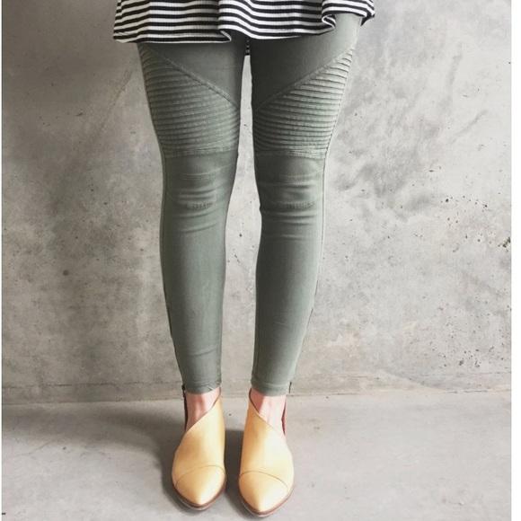 76b0311f96e bp Pants -  Bp  green moto leggings